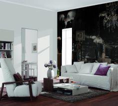 """Fototapete """"Hühnerstall""""-erhältlich neben vielen weiteren Motiven auf www.wallprint-factory.com"""