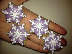 3 dozen Mini Snowflake Cookies by AllysonsCookieJar on Etsy, $24.00
