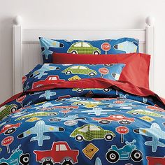 hitch a ride on this fun kids sheets bedding set with a zippy assortment - Kids Sheets Boys