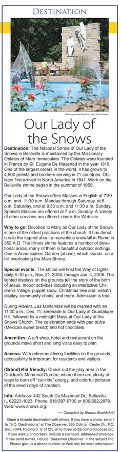 Our Lady of the Snows in Belleville, Illinois Originally published Nov. 7, 2008