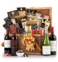 Christmas Wine Gift Baskets by GiftTree