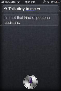 You're no fun Siri