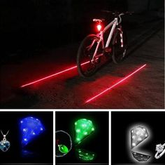 8 LED 2 Laser Beam Safety Rear Warning Lamp. Very perfect for your night cycling!