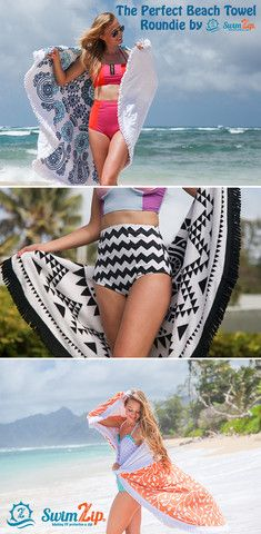 Also perfect for cooler days at the beach, use as a beach blanket to snuggle up with and stay warm. Make a statement with SwimZip.