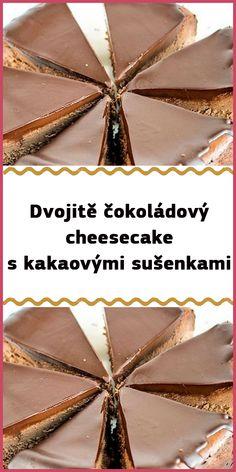 Dvojitě čokoládový cheesecake s kakaovými sušenkami Cheesecakes, Deserts, Food And Drink, Homemade, Home Made, Cheesecake, Postres, Dessert, Cherry Cheesecake Shooters