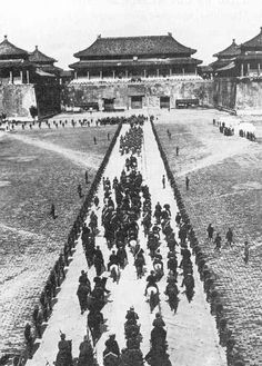 German troops entering Beijing after the collapse of the Boxer Rebellion, 1901
