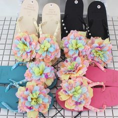Summer beach vacation simple Korean drag simple pearl flowers cool drag beach non slip flat colorful female slippers