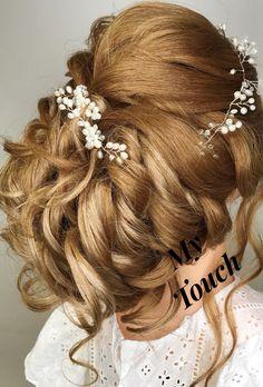 Bridal updo, Hairstyling, Bridal hair, hair updo, wedding hair, wedding updo, bride