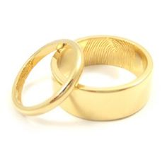 Fingerprint wedding bands mens wedding bands