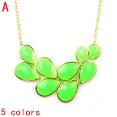 Aliexpress.com : Buy neon oversized summer funky bubble bib statement necklace chunky leaf shaped jewelry 2013,5 colors,NL 2069 from Reliable chunky chain necklace suppliers on Well Done Fashion Jewelry Co.,Ltd. $5.58