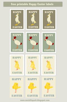 FREE printable happy easter envelope seals and DIY stickers