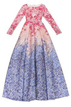 Long Sleeve Floarl Print Maxi Dress
