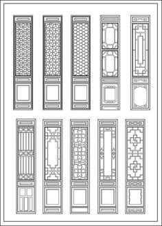 Chinese window lattice drawing