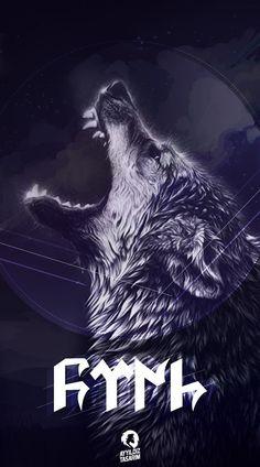 #tätowierung Wolf Wallpaper Phone, Galaxy Wallpaper, Cool Wallpaper, Turkic Languages, Wolf Tattoo Design, Basketball Art, Lion Tattoo, Cool Artwork, Amazing Artwork