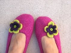 Felted+Crochet   Adult Felted Slippers Crochet Pattern PDF   Crochet/Knit