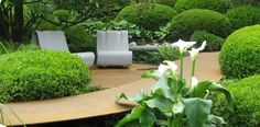 seating area in the garden