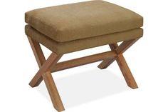 Lee Industries 9128-00 Ottoman - paing/stain wood legs