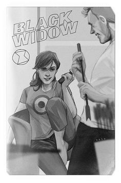 Marvel's Retro Style Photo Variant Cover - Black Widow by Phil Noto *