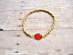 Strechable gold plated bead bracelet with 22K gold by NKcollection, $30.00
