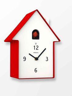 Zegar z Kukułką - Meridiana - Czerwony
