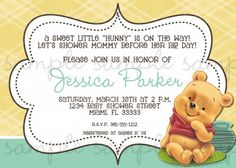 winnie the pooh baby shower invitations instant download, Baby shower