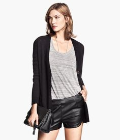 Product Detail | H&M US Imitation Leather Shorts $29.95