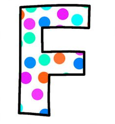 ArtbyJean - Paper Crafts: Alphabet Set - Polka Dots in bright magenta, shocking pink, blue, turquoise, aqua, and orange. Polka Dot Letters, Bubble Letters, Polka Dots, Magenta, Aqua, Turquoise, Pink Blue, Monogram Alphabet, Alphabet And Numbers