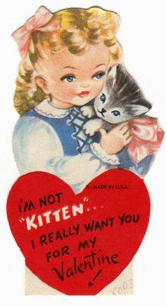 Vintage Cat Valentine #2 http://pawsforreaction.blogspot.ca/2014/02/vintage-cat-valentine-2.html