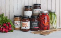 This great collection of BBQ sauces for Williams-Sonoma designed by Foundry Co. is beautifully designed with a sophistication that definitely represents the Williams-Sonoma brand.