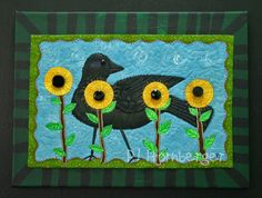 Crow Quilts | These art quilts have so many steps to them...