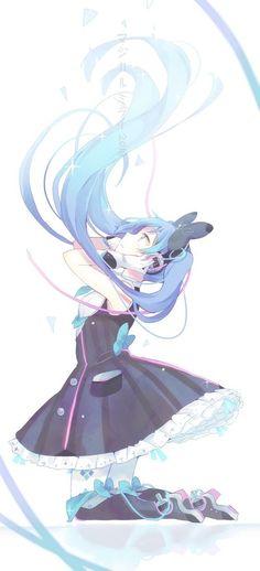 Hatsune Miku ~ Vocaloid - Music is my life ♡ Anime Chibi, Manga Anime, Manga Girl, Anime Girls, Hetalia Anime, Sakura Miku, Otaku, Desu Desu, Mikuo