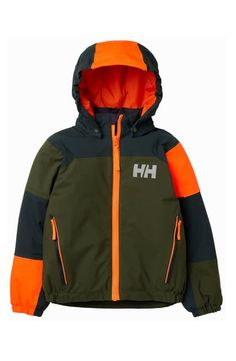 Helly Hansen Rider 2 Insulated Hooded Jacket (Toddler Boys & Little Boys) Toddler Outfits, Boy Outfits, Nike Windrunner, Helly Hansen, Jackets Online, Toddler Boys, Kids, Winter Coat, Outerwear Jackets