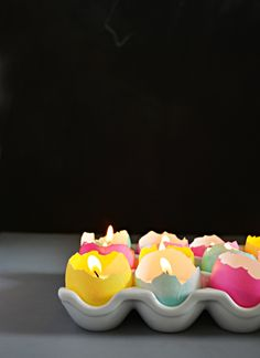 eggshell tealights...how to...