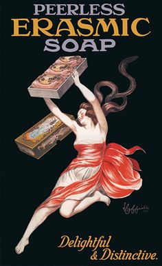 Erasmic Soap by Cappiello Vintage Advertising Posters & Prints