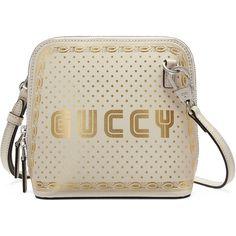 0863111412dd Gucci Guccy Sega® Print Mini Shoulder Bag (€1.425) ❤ liked on Polyvore