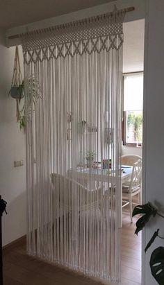 Macrame Design, Macrame Art, Macrame Projects, Etsy Macrame, Macrame Knots, Macrame Wall Hanging Patterns, Macrame Patterns, Macrame Curtain, Beaded Curtains