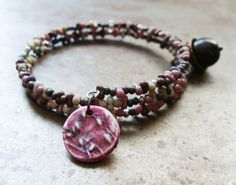 Roses and Willows Garden Wrap Around Bracelet | Humblebeads Jewelry
