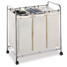 Three Section Laundry Sorter...I Have One of these and it makes laundry a DREAM!