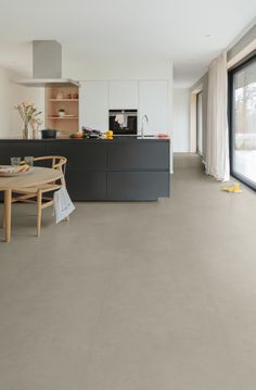 Concrete Floors In House, Kitchen Flooring, Home Living Room, Home Kitchens, Home Furniture, Sweet Home, New Homes, House Design, Interior Design