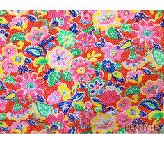 Coton imprimé fleur