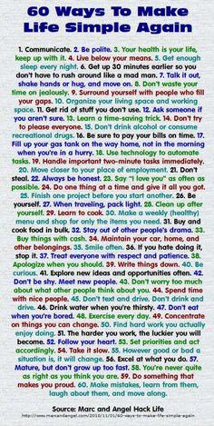 60 Ways to Make Life Simple