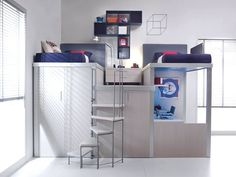 10 Space-Saving Bedroom Furniture Ideas by Tumidei Spa Space Saving Bedroom, Space Saving Desk, Space Saving Furniture, Space Saver, Kids Bedroom Furniture, Furniture Plans, Furniture Stores, Furniture Design, Bedroom Decor