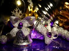 Amazing Purple and Silver Christmas Tree Decorations for Your Modern Home Decor Ideas with the ornament