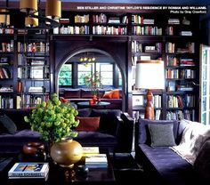 Cozy, beautiful and intimate. Shelves as space dividers for private work and meeting areas.