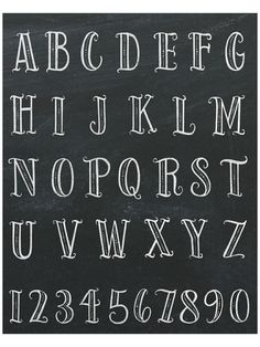 """From """"The Complete Book of Chalk Lettering"""" Design Alphabet, Hand Lettering Alphabet, Chalk Lettering, Doodle Lettering, Creative Lettering, Lettering Styles, Brush Lettering, Doodle Alphabet, Doodle Fonts"""