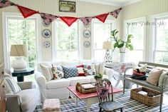 Savvy Southern Style: adding Americana in the sun room