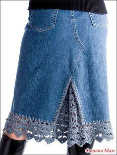 Cute way to lengthen a skirt