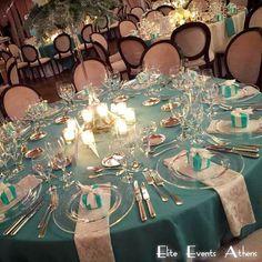Tiffany blue setup (Elite Events Athens)