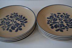 SOLD***Pfaltzgraff Folk Art DinnerPlates  set of 4 by TsEclecticCorner, $50.00