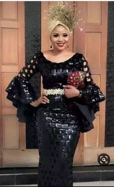 Hello here are some exotic asoebi designs for the ladies. These asoebi styles will light up your fashion life. Long African Dresses, African Lace Styles, African Inspired Fashion, Latest African Fashion Dresses, African Print Fashion, African Wedding Attire, African Attire, Lace Dress Styles, African Traditional Dresses